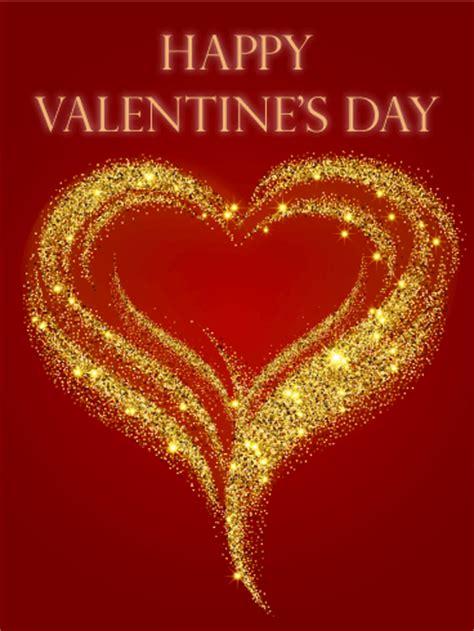 valentines day glitter images golden glitter happy s day card birthday