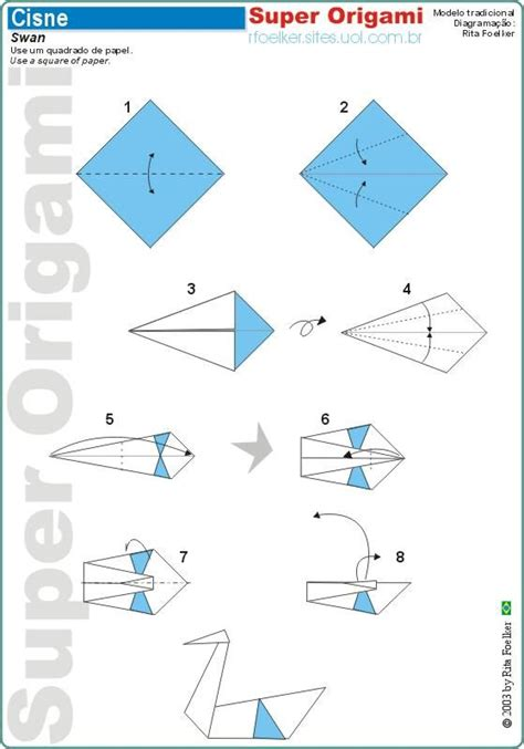 Steps For Origami - origami swan origami paper creations
