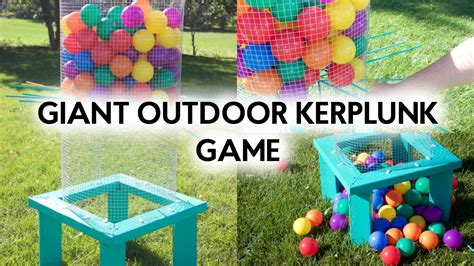 diy giant outdoor kerplunk game outdoor games youtube