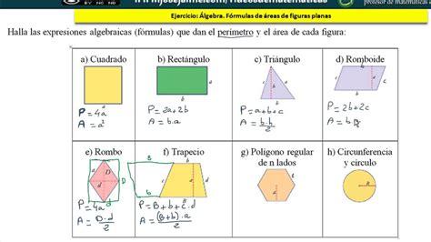 figuras geometricas formulas formulas de areas y perimetros de figuras planas images