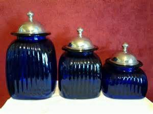 blue kitchen canister sets cobalt blue 3 artland kitchen canister set ebay