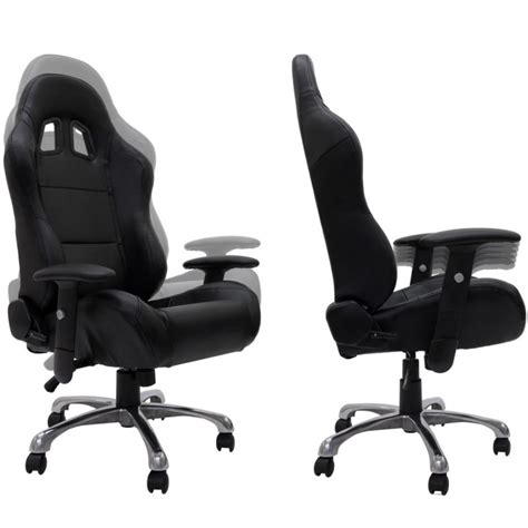 fauteuil baquet bureau fauteuil de bureau sport baquet racing en cuir quot daytona quot noir
