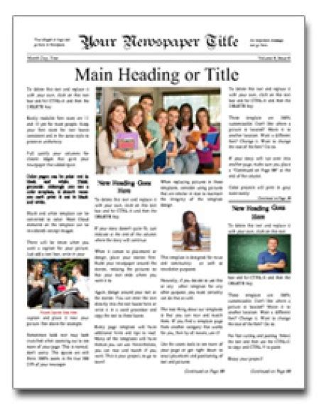 templates for newspapers 9 newspaper templates word excel pdf formats