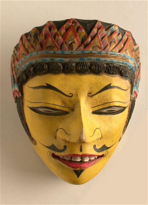 Masker Indo laksmana mask java indonesia object lessons ceremony celebration puppets masks