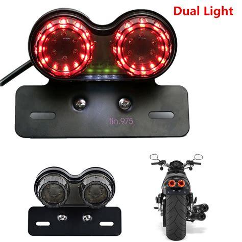 motorcycle led dual turn signal brake license