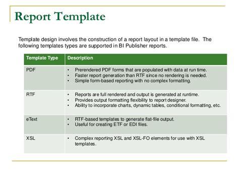 outcome report template graviton bi publisher presentation