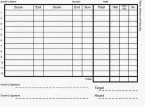 discoverthat archery score cards