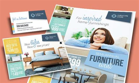 couch marketing flyers ads and stationery for a furniture retailer