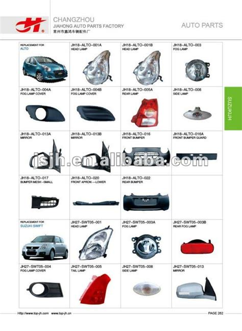 Suzuki Car Parts Catalogue Car For Alto And Suzuki Spare Parts Page262 View