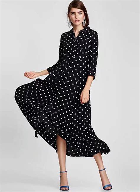 Maxi Lilin Polka Dress Maxi fashion sleeve polka dots maxi dress novashe