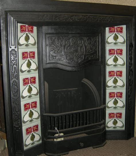 Fireplace Tile Sets by Nouveau Mackintosh Style Fireplace Tile Set Ref