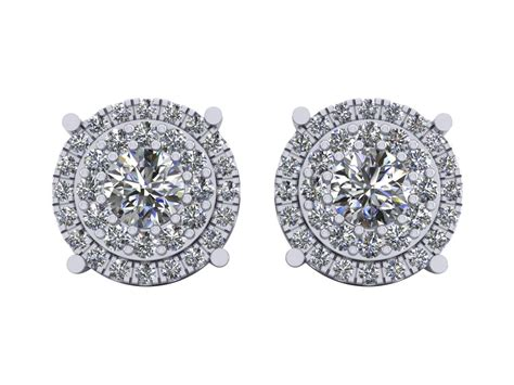 1 10ct cut mens womens halo cluster