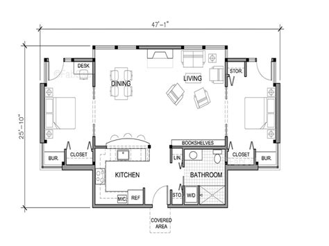 One Floor Home Plans Small One Story House Floor Plans Really Small One Story House Weekend Cottage Plans