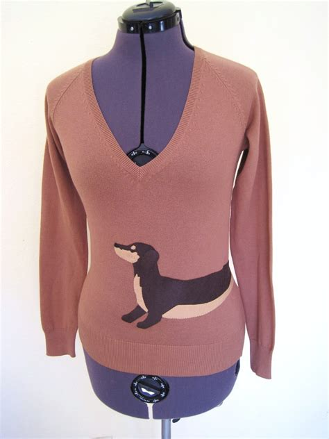 dachshund sweater for wrapped dachshund sweater in camel color size s