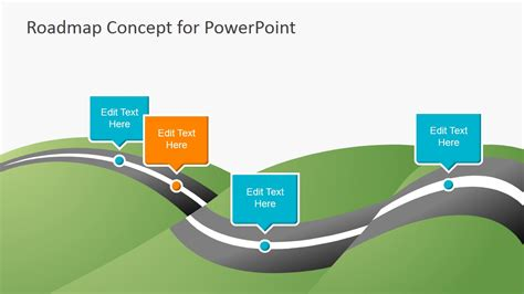 free powerpoint templates roadmap creative roadmap concept powerpoint template slidemodel