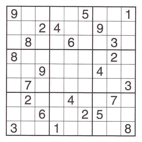 printable sudoku hard 7 best images of printable challenging puzzle printable