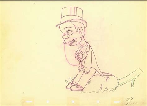 W C Fields Sketches by 2 Animation Cel Drawings W C Fields Mccarthy