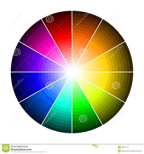 wheels l shade color wheel with shade of colors stock images image
