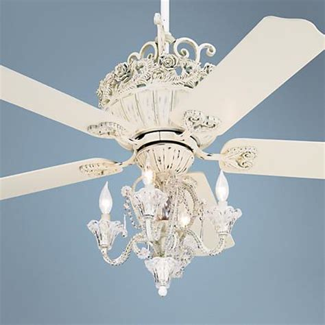 chic ceiling fan 52 quot casa chic rubbed white ceiling fan with 4 light kit