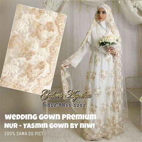 Baju Nikah Syar I baju nikah syar i muslimah modern yasmin wedding gown by nines widosari baju nikah payet
