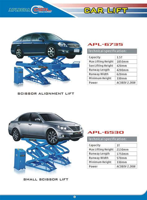 Car Lift Types by Scissor Type Wheel Alignment Car Lift For Home Garage