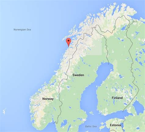Where is Bodo on map of Norway World Easy Guides