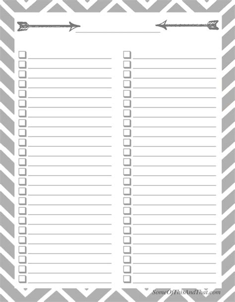 free organizational printables some of this and that