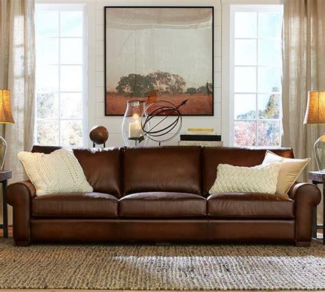 pottery barn leather sofa reviews potterybarn sofa conceptstructuresllc com