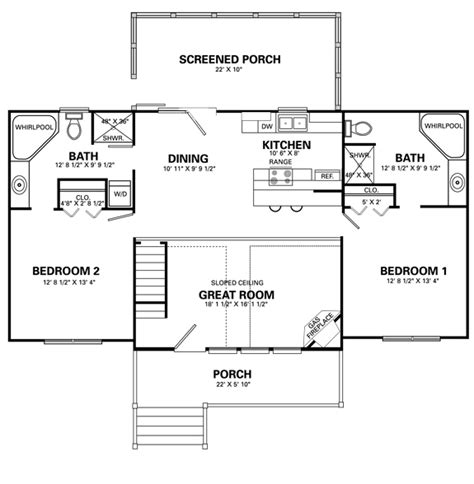 4 room floor plan home design living room four bedroom house plans