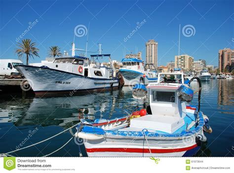 boat time in spanish spanish fishing boats fuengirola editorial stock image