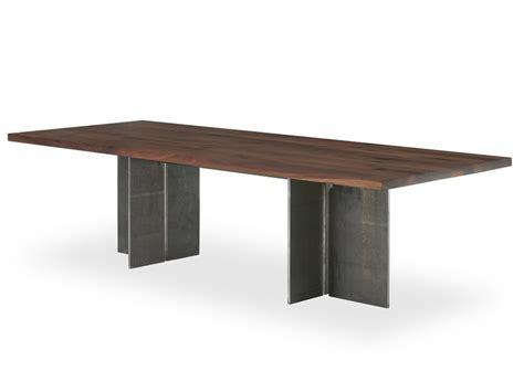 tavolo legno e ferro tavolo rettangolare in legno e ferro gualtiero by riva