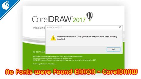 how to error 2908 when install corel draw x5 no fonts were found error coreldraw solved youtube