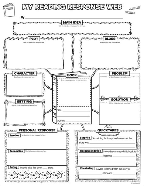 graphic organizer for book report scholastic express graphic organizer posters