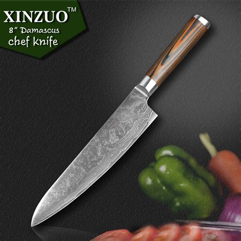 good quality kitchen knives xinzuo 8 quot inch chef knife damascus steel kitchen knives high quality vg10 santoku hasher knife