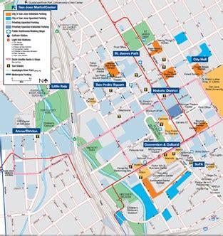 san jose printable map parking san jose ca
