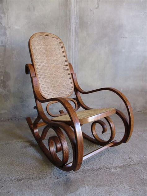 thonet rocking chair  webbing upholstery catawiki