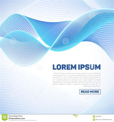 backdrop wave design vector abstract background with smooth color waves stock