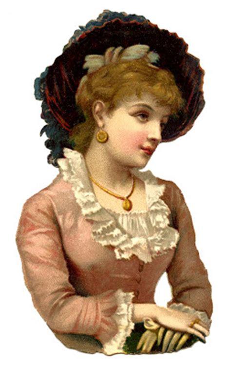 vintage image victorian woman scrap