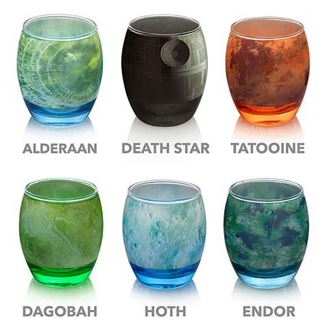 Drinkware Sets Wars Planetary Glassware Set Thinkgeek