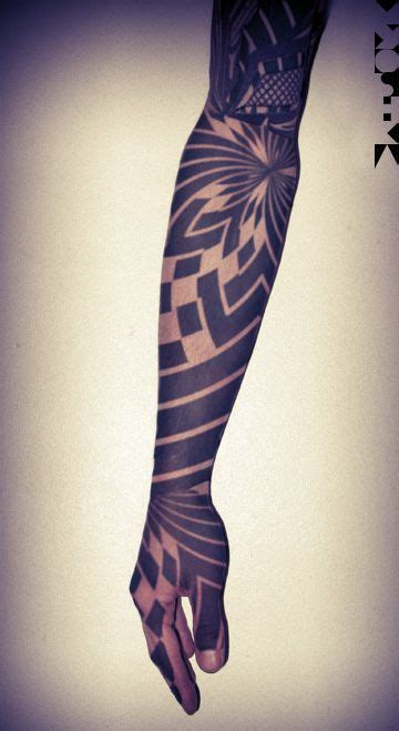 geometric full arm piece rites of passage pinterest