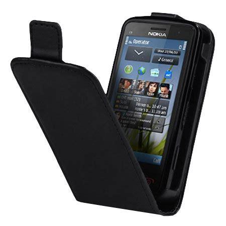 Casing Hp Nokia C6 01 nokia c6 01 faux leather flip black