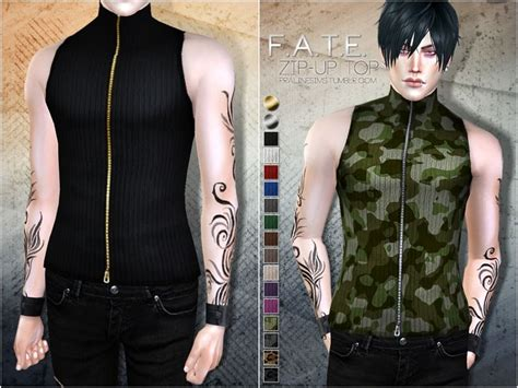 sims 4 cc male geek shirts sleeveless top in 15 colors found in tsr category sims 4