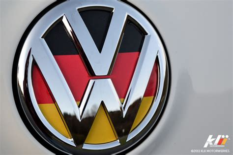 German Flag Volkswagen Logo Country Colours
