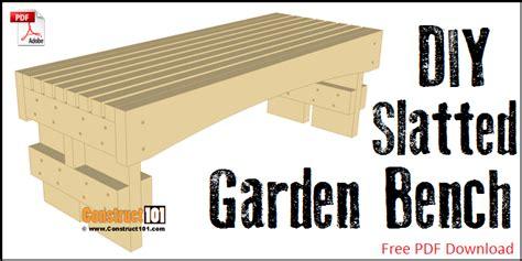 garden bench plans pdf slatted garden bench plans pdf download construct101