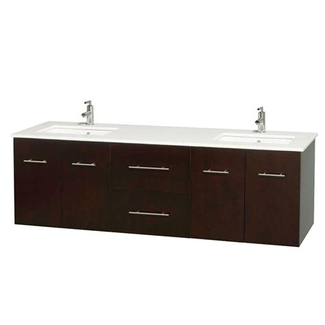 top mount vanity sinks wyndham collection centra 72 in double vanity in