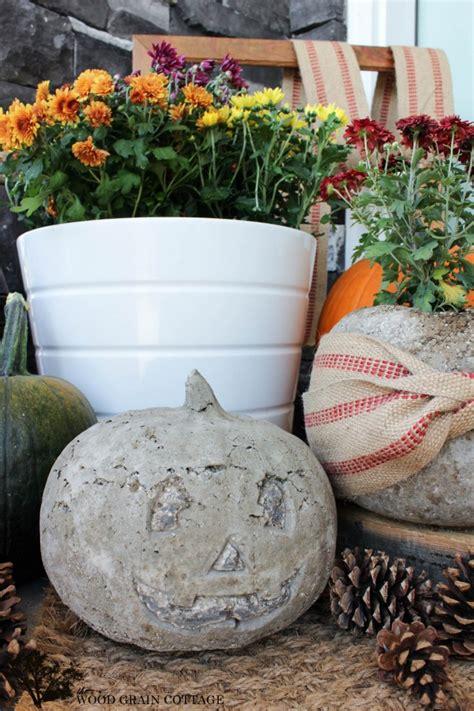 concrete pumpkins the wood grain cottage