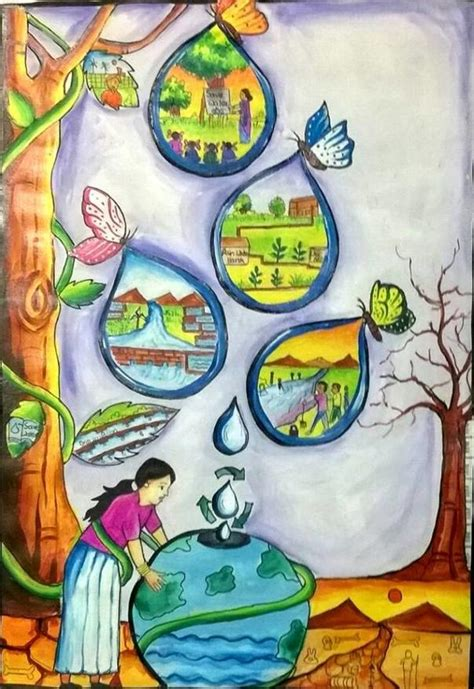 theme of education in the river and the source state level painting competition conducted by the ministry