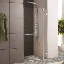 discount shower doors glass frameless glass vigo frameless shower door with 3 8