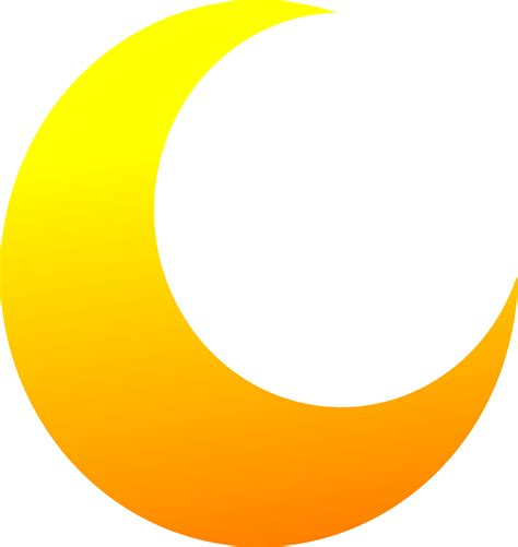 free vector clipart images yellow crescent half moon vector clipart image free