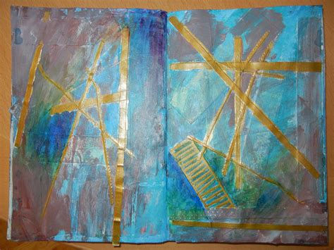 acrylic painting newspaper altered